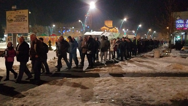 """OPOZICIJA ŠETA I U TRSTENIKU: Protest """"1 od 5 miliona"""" zakazan za četvrtak"""