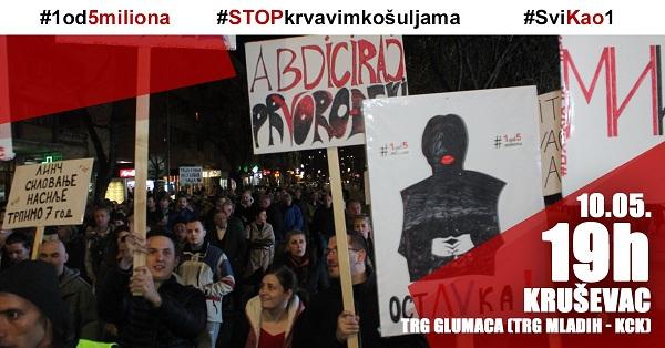 NOVI PROTESTNI SKUP U KRUŠEVCU: Tribina o odlivu ljudi iz Srbije