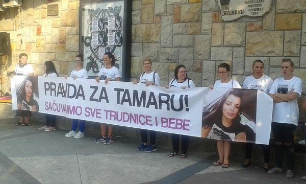 """ODRŽAN PROTESTNI SKUP: """"Pravda za Tamaru – sačuvajmo sve trudnice i bebe"""""""