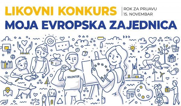 """LIKOVNI KONKURS: """"Moja evropska zajednica"""""""