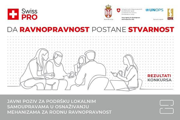 PROGRAM SWISS PRO: Podrška projektima za jačanje rodne ravnopravnosti u Ćićevcu i Kruševcu