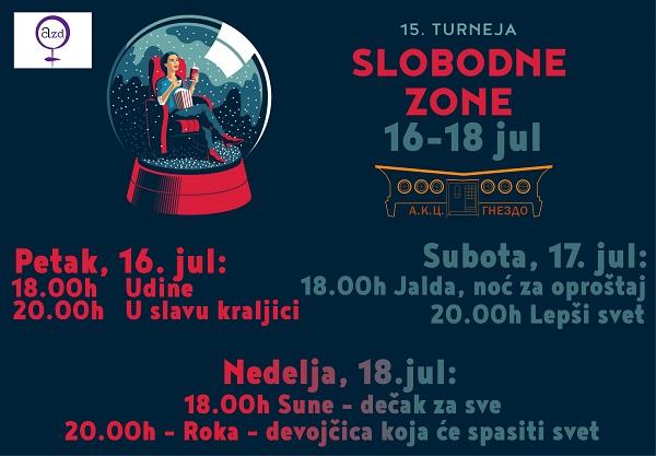 FILMSKI FESTIVAL SLOBODNA ZONA: Projekcije šest filmova