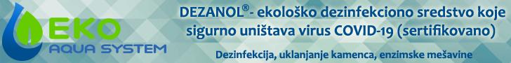 EkoAqua system - DEZANOL - ekološko dezinfekciono sredstvo koje sigurno uništava virus COVID-19 (sertifikovano)